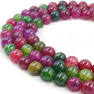 COIRIS 8 毫米玛瑙宝石圆形散装宝石珠 用于珠宝制作和DIY&设计 (RS-1065) RS-1082 10mm RS-1029-1101