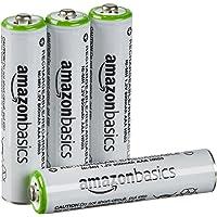 AmazonBasics 亚马逊倍思 AAA型(7号)镍氢预充电 可充电电池 (4节,800mAh) (新旧款颜色随机发…