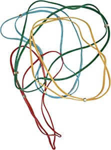 Kleer-Fax Bundle Bands Patented Rubber Bands, Assorted Sizes and Colors, 10 Bands per Pack (00010)