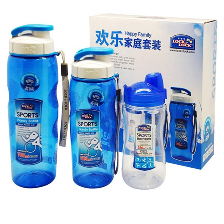 【我要买这个】Lock&Lock 乐扣乐扣 HPP722TS005 便携塑料杯 礼品三件套 59.9元