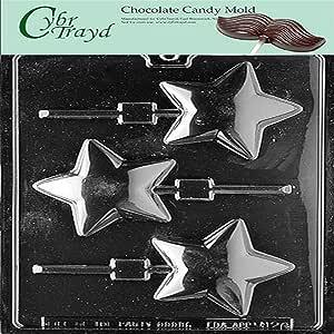 Cybrtrayd M126 圆形星棒巧克力糖果模具*青铜版权巧克力模制说明 透明 1 - 包 649979391261