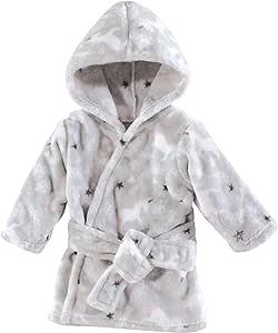 Hudson Baby 柔软毛绒婴儿浴袍 Whimsical Unicorn 0-9 个月
