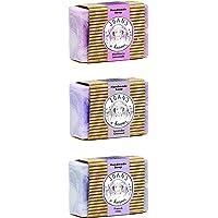 Joan's a Keeper 手工皂 多款 3 件装 - 法国丁香,薰衣草燕麦,黑莓柠檬 - 纯蜂蜜,蜂蜡和椰子油,3.75 盎司(约 100.3 毫升)