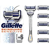 Gillette 吉列 SkinGuard 敏感肌肤男士剃须刀,附6件刀片