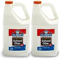 Elmer's Liquid School 胶水,可洗,1加仑(3.78升),2瓶——非常适合制造粘液