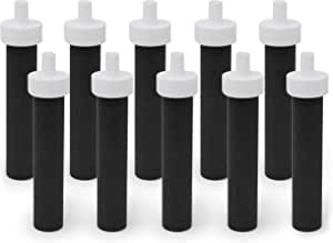 Fette Filter Brita 碧然德水瓶替换滤芯 - 不含双酚 A 滤水器与碧然德硬面水壶和运动软面瓶兼容 - 与零件 #BB06 比较。 (10 件装)