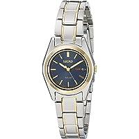 SEIKO 女式双色蓝色表盘太阳能日历手表