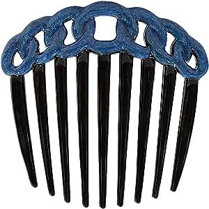 Caravan 法国装饰黑色绳设计扭绳梳子