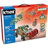 K'NEX 23012 Imagine Power and Play 电动积木套装,儿童教育玩具,529 件杆学习套装…