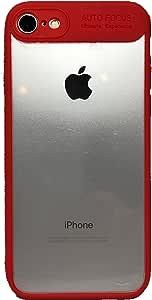 ECHC 适用于 iPhone 彩色防撞保护套,带透明背面 iPhone 7 and 8 红色