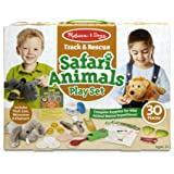 Melissa & Doug 追踪与救援 野生动物园动物玩具套装