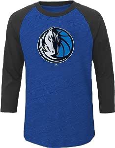 NBA 达拉斯小牛队成人男式 NBA Plus 3/4 袖超粗纺,2X,Roy Hth/Cha Hth