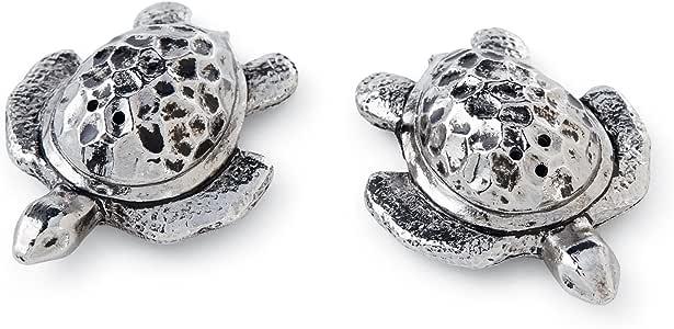 Mud Pie Sea Turtle Salt & Pepper Set, Silver