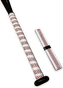 Ballpark Elite 棒球棒握把,红色棒球针设计