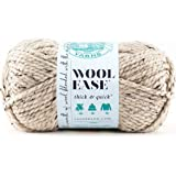 Lion Brand Yarn Wool-Ease Thick and Quick Yarn 燕麦色