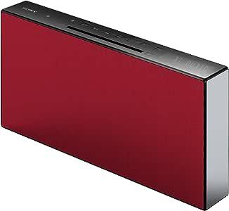 Sony 索尼 CMT-X3CD 微型 HiFi 音箱系统(CD, USB, 蓝牙, 20 Watt),红色