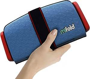 mifold grab-and-go 汽车加高座椅,蓝色, 牛仔蓝–紧凑,便携式的加高座椅,适合旅行,拼车等,折叠式儿童加高座椅,可放入手套箱和背包