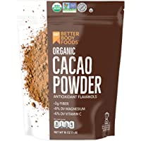 LIVfit Superfood 可可可粉 1 磅, 可可可粉,享受美味无关巧克力食物,可用于Cocoa,由 BetterBody Foods 生产