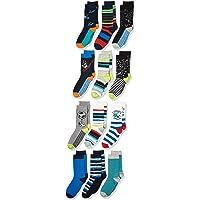 亚马逊品牌 - 斑点斑马纹儿童船袜 12 双装