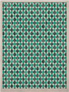 Kess InHouse Michelle Drew 做旧圆圈自然帆布艺术画,60.96 x 91.44 cm,蓝绿色