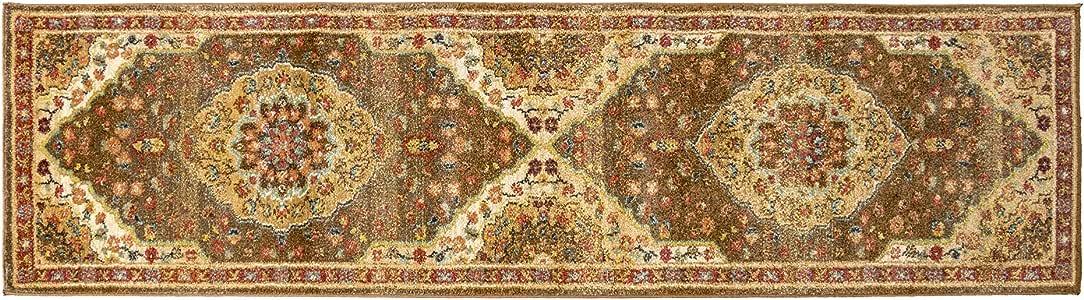 Gertmenian 21364 东方地毯 III 秘鲁地毯,12.7 x 17.78 标准,橙色绿松石徽章