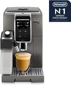 De'Longhi 德龙 Dinamica Plus ECAM 370.95.T 全自动咖啡机,带集成牛奶系统,3.5英寸TFT触摸屏和,应用程序控制,自动清洁,咖啡壶功能,34.8x23.6x42.9厘米