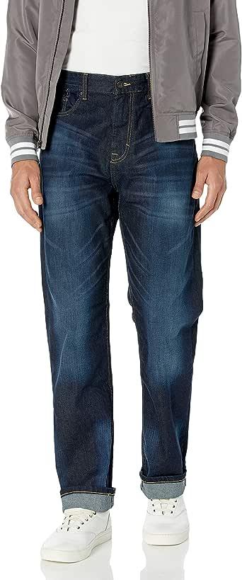 Calvin Klein 卡尔文·克莱恩 男式 休闲直筒牛仔裤 深水蓝色 38W x 32L
