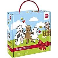 爱慕莎(emsa) 德国原装进口儿童餐具6件套 浅盘、深盘、餐具三件套和杯子 农场卡通图案 不含BPA 质保2年