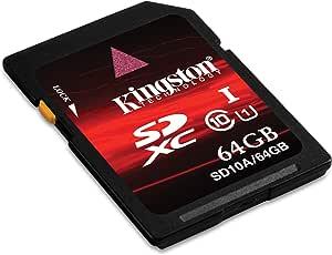 Kingston 64 GB Class 10 SDXC Flash Card SD10A/64GB