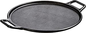 Lodge 洛极 Lodge logic系列 37.5cm平底(电磁炉通用)披萨煎饼铁板烧无涂层不粘锅铸铁烤盘煎锅P14P3