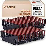 MYTONER ERC30 ERC-30 ERC 30/34/38 B/R 黑色/红色兼容墨盒,适用于 Epson 爱普生 ERC38 NK506(24 件装)