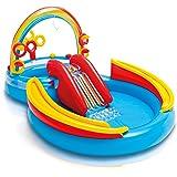 Intex 彩虹圈 充气游戏中心,适用于2岁以上儿童,117英寸/约2.97米X 76英寸/约1.93米X 53英寸/约…