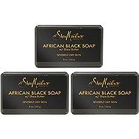 Shea Moisture 非洲黑肥皂带乳木果油 8 盎司(3 瓶装)