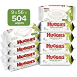 HUGGIES Natural Care Unscented Baby Wipes, Sensitive, Water…