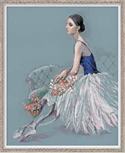 """Ballerina Counted Cross Stitch Kit-15.75""""X19.75"""" 14 Count"""