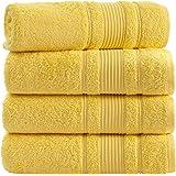 Qute Home WASHCLOTH、手持、水毛巾套装 优质奢华奢华 TURKISH 棉布吸血剂和超柔软 黄色 Bat…