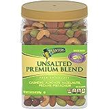 PLANTERS 绅士 优质混合坚果,无盐,全坚果,34.5盎司(978克),容器可重新密封,开心果,腰果,杏仁,榛子和…