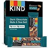KIND 实心棒,黑巧克力果仁和海盐,无麸质,低糖,1.4盎司(约39.68克),12粒