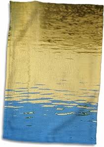 3D 玫瑰金蓝色水反射 TWL_35254_1 毛巾,38.10 cm x 55.88 cm