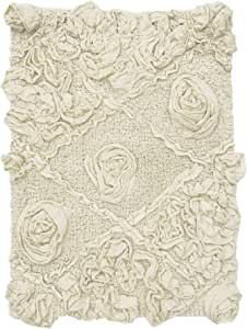 Home Weavers Modesto 吸水棉质,柔软地毯,可机洗烘干,43.18 厘米 x 60.96 厘米,自然色