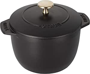Staub 电饭煲 煮饭 La Cocotte de GOHAN 40509-653  S 黑色 12cm