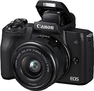 Canon佳能 EOS M50 白色2680C012 EF-M 15-45 Kit 黑色