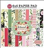 Carta Bella Paper Company CBBO98023 植物花园 6x6 垫纸,粉色,*,黑色,红色,奶…