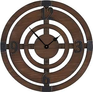 家庭必备大超大装饰质朴挂钟 棕色 2390-1