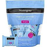 Neutrogena 露得清 卸妆湿巾 单件装 日常脸巾 去除污垢、油、化妆品和防水睫毛膏 温和 无酒精 单独包装 20片