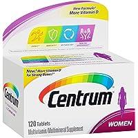 Centrum 善存 女性复合维生素 多种维生素/多种矿物质补充,含铁,维生素D3,维生素B和抗氧化剂-120粒