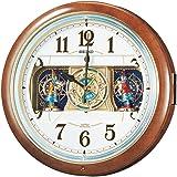 精工时钟挂钟电波模拟布置6首音乐茶大理石花纹 re559h Seiko