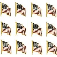TONOS 精致的美国国旗别针 - 星星条旗帜翻领别针美国制造