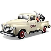 Maisto 哈雷戴维森 2001 FLSTS 传统 Springer & 1950 雪佛兰 3100 压铸车(1:24 比例)