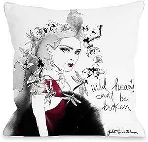 Bentin 家居装饰蜻蜓女孩抱枕 带拉链 来自 JuДGarcia Talvera 0 18x18 Pillow With Zipper 12926PL18Z